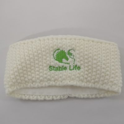Adult Cream Headband Green Log...