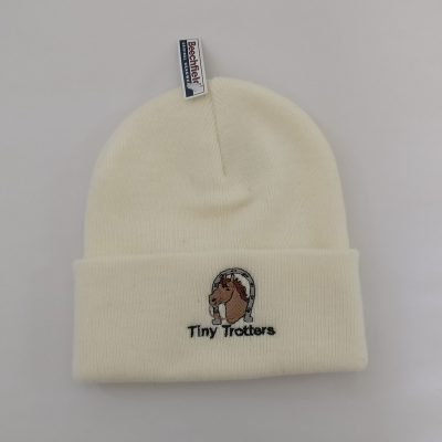 Tiny Trotter Cream Beanie