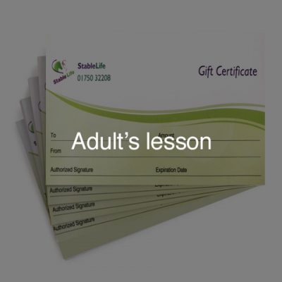 Adult's lesson (Gift Card)